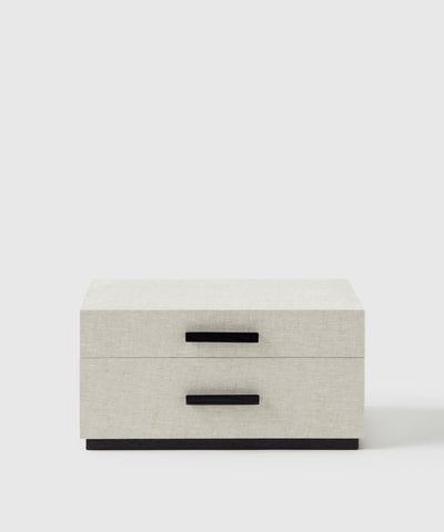 2 drawer jewelry storage and organization box. Designed by Marie Kondo exclusively for The Container Store x KonMari collection.