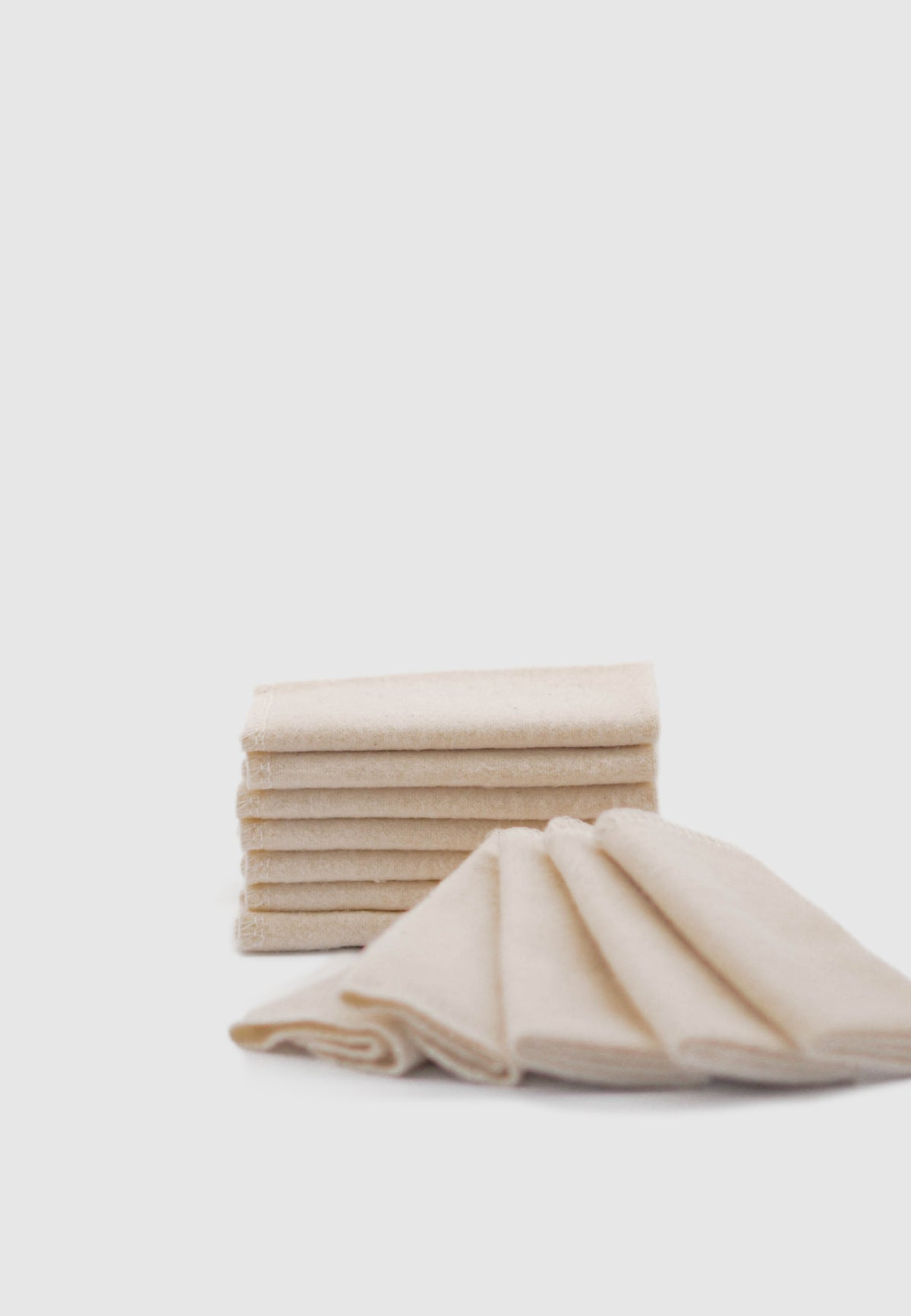 Handmade, Organic Cotton All-Purpose Cloths – Set of 12
