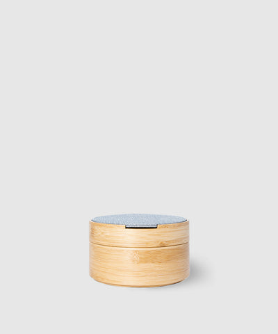 Stackable Bamboo Jewelry Box With Mirror