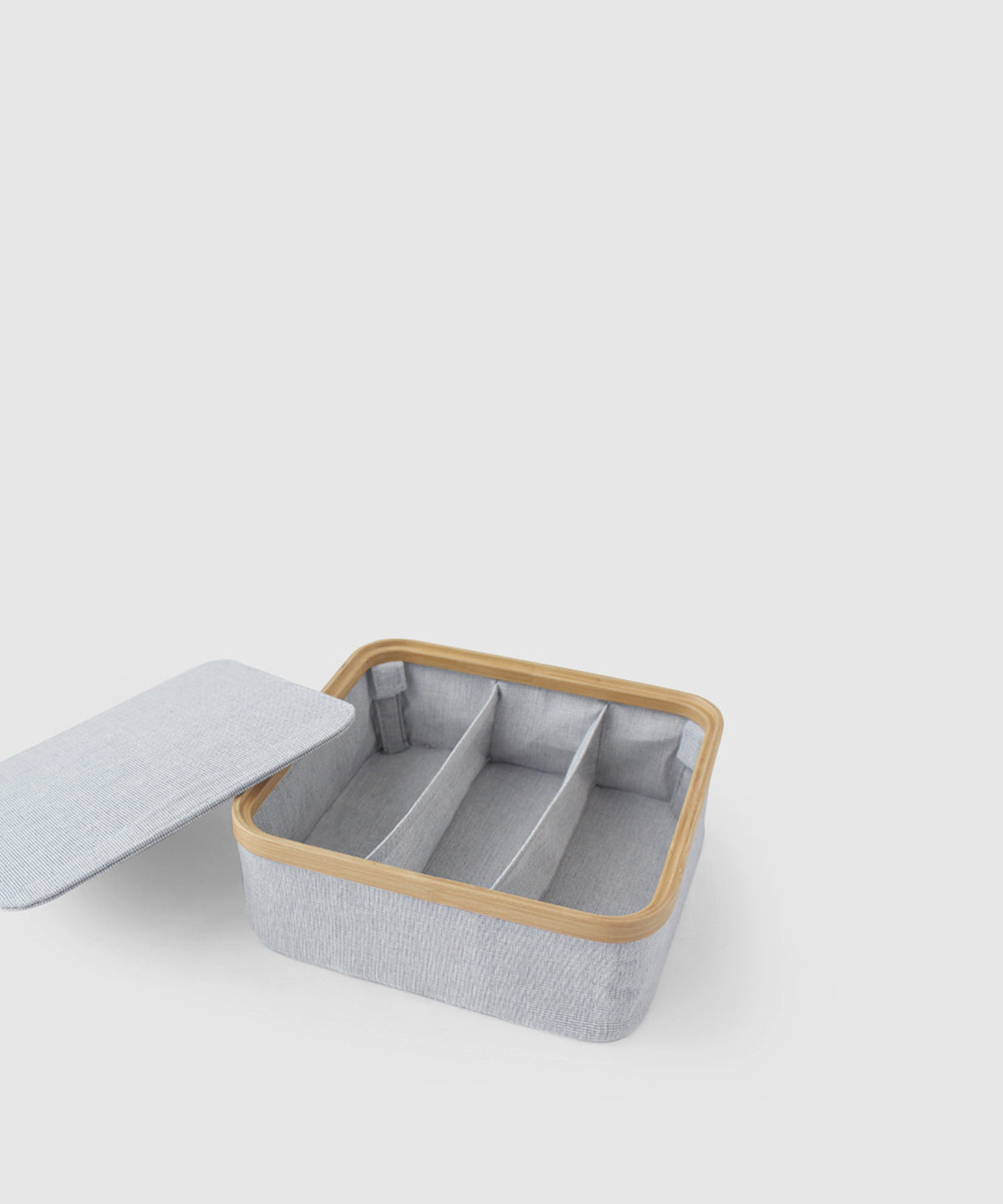 Stacking Storage Box With 3 Compartments