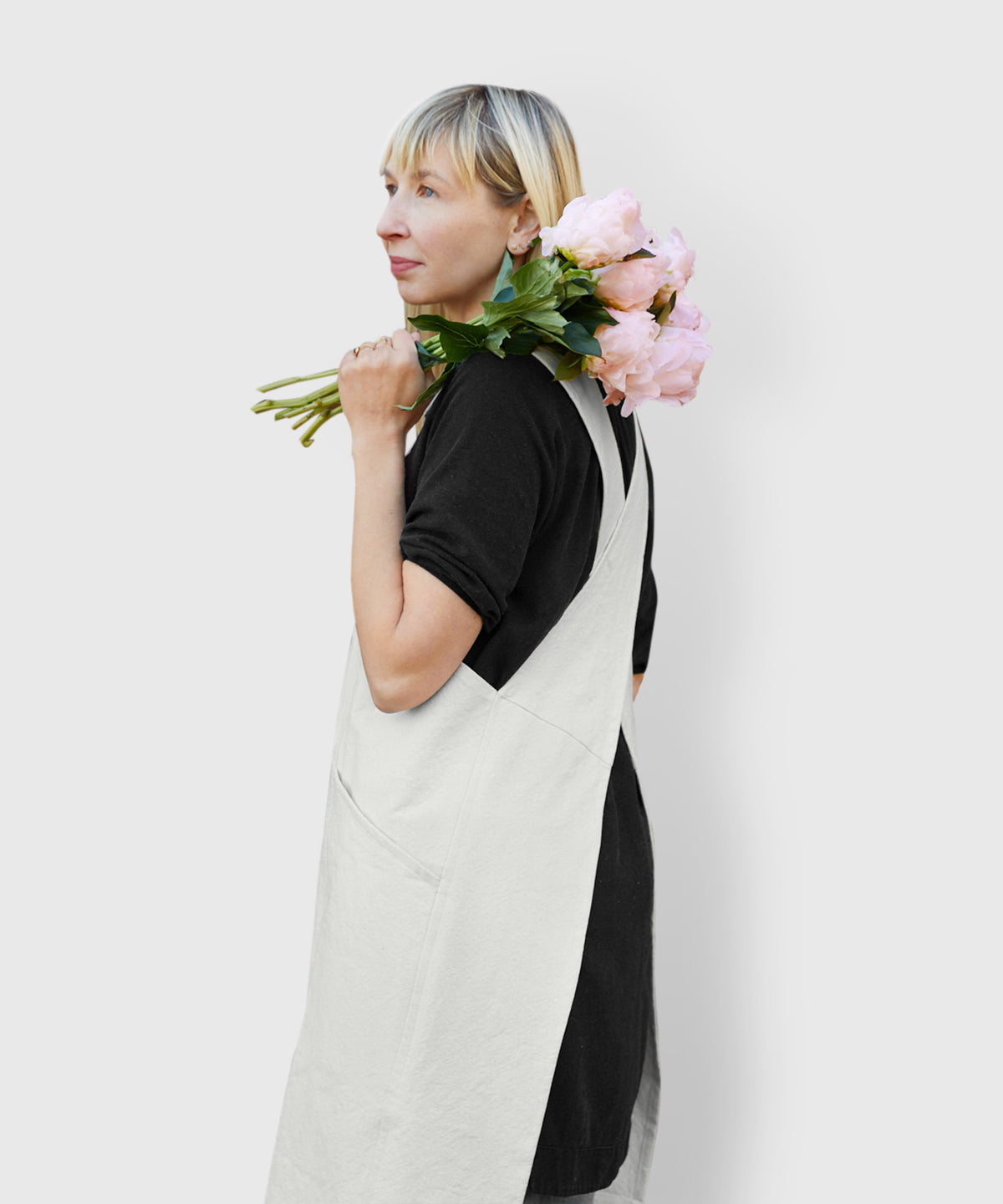 Cotton Canvas Cross-Back Apron