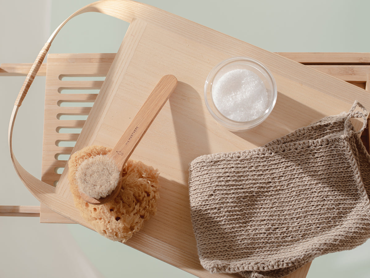 Naturally Antibacterial Pure Linen Body Washcloth Mitt