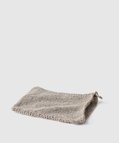 Linen Body Washcloth Lying Flat