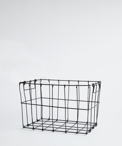 Wire stackable storage box.