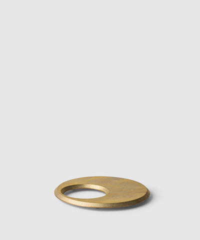 Circle in a Circle Solid Brass Moon Trivet