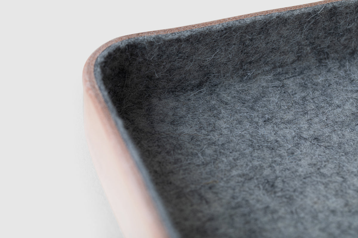 Kawabon Felt & Leather Organizing/Valet Tray