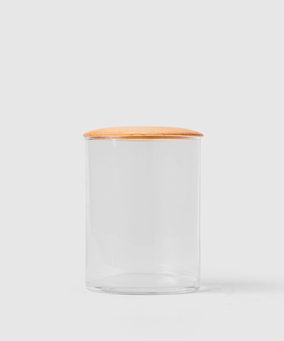 Glass & Wood Storage Container for Kitchen & Bath - 64 oz.