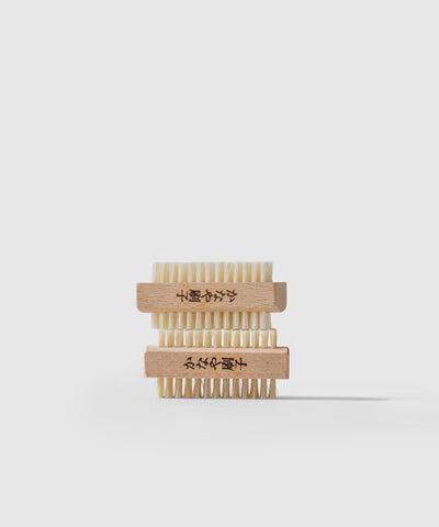 Two Nail Brushes Stacked