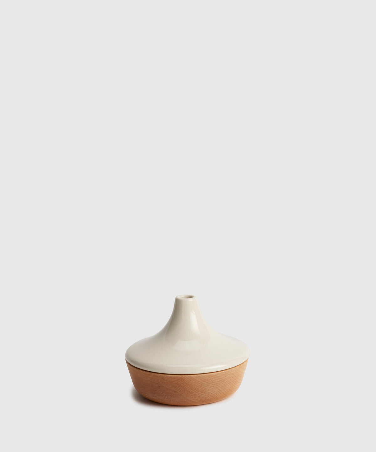 Maple & Porcelain Bud Vase