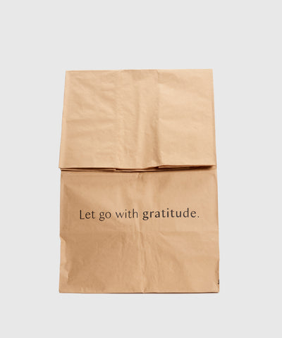 """Let Go With Gratitude"" Bags – Set of 5"