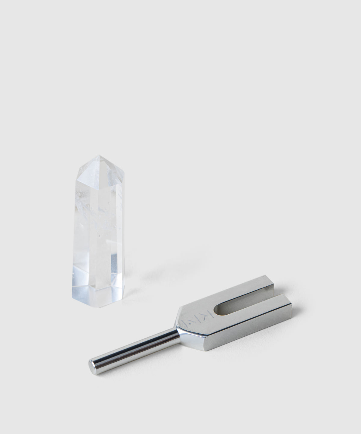 Finding Balance: Tuning Fork & Clear Quartz Crystal