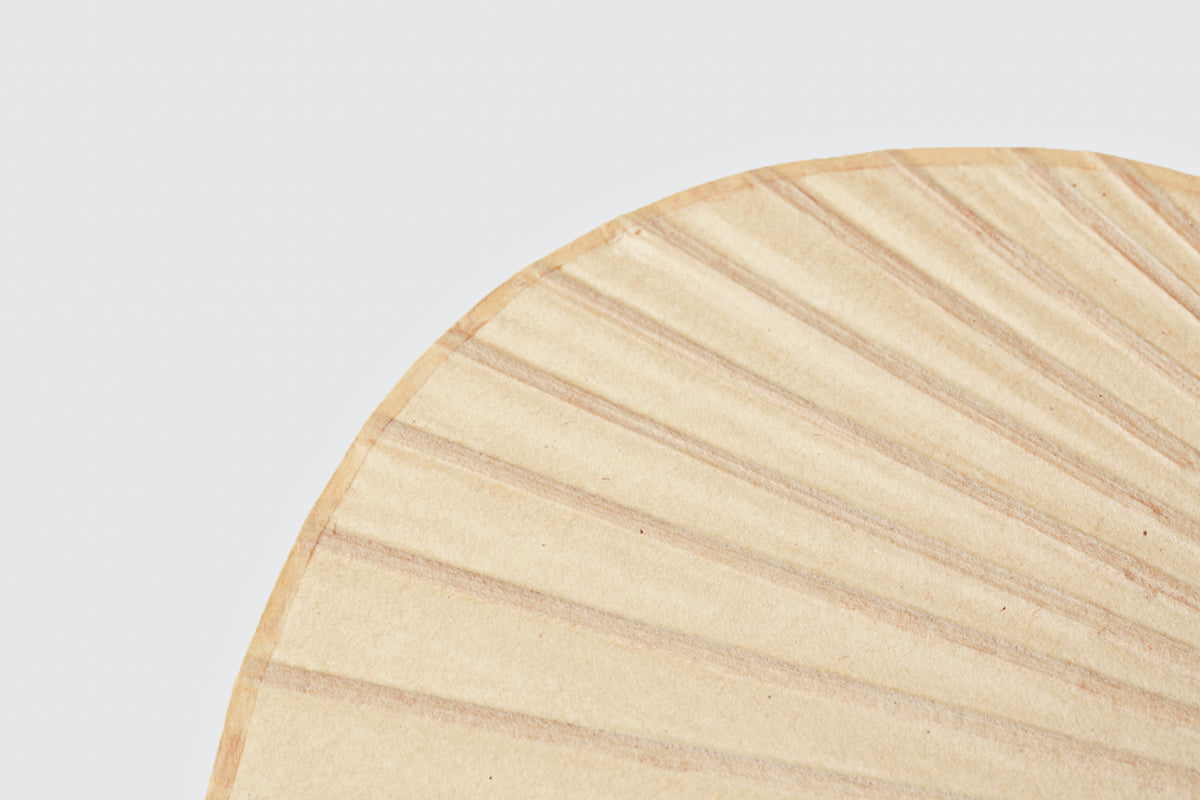 Traditional Uchiwa Paper Fan with Bamboo Handle