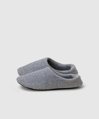 Washable woven Japanese house slippers in grey for men and women
