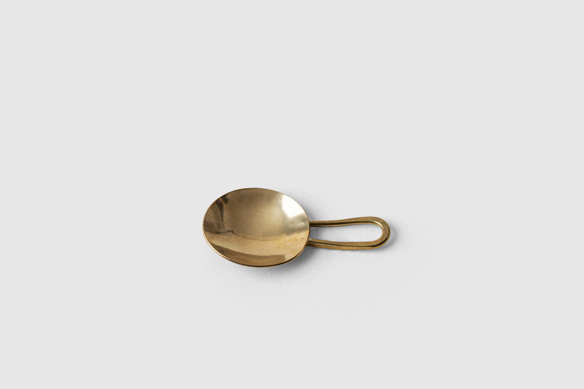 Tea Ceremony: Handmade Brass Tea Scoop