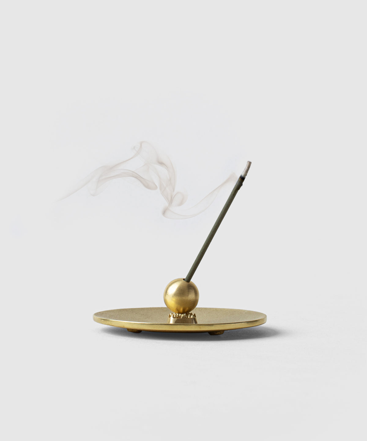 Historical Japanese Cast Brass Cone/Stick Incense Holder