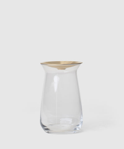 glass flower vase or desk pot