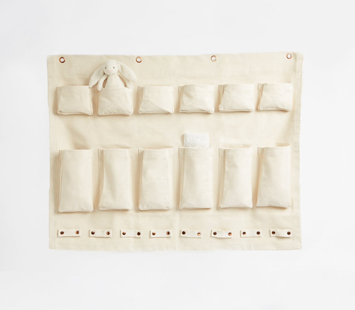 Canvas Half-Wall Komono Organizer