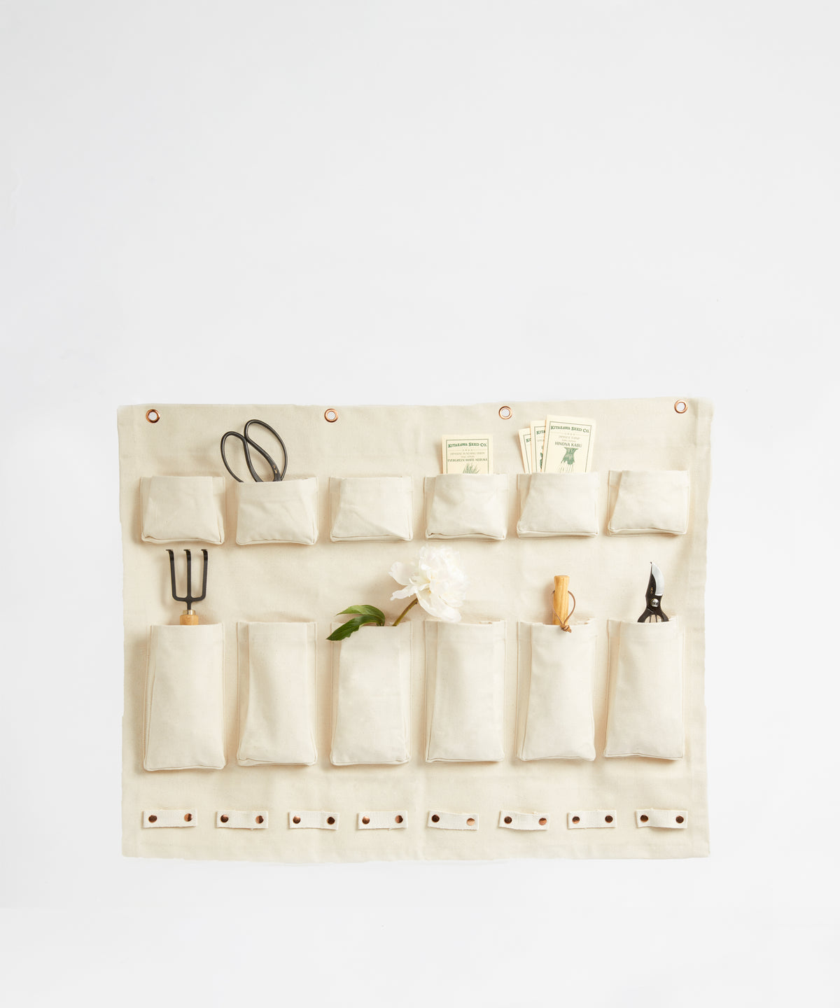canvas wall organizer with compartments