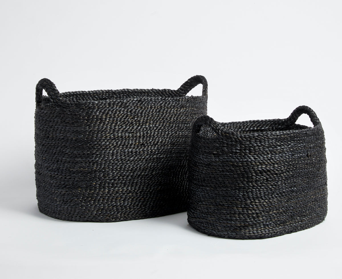 Large Charcoal Storage Basket with Handles
