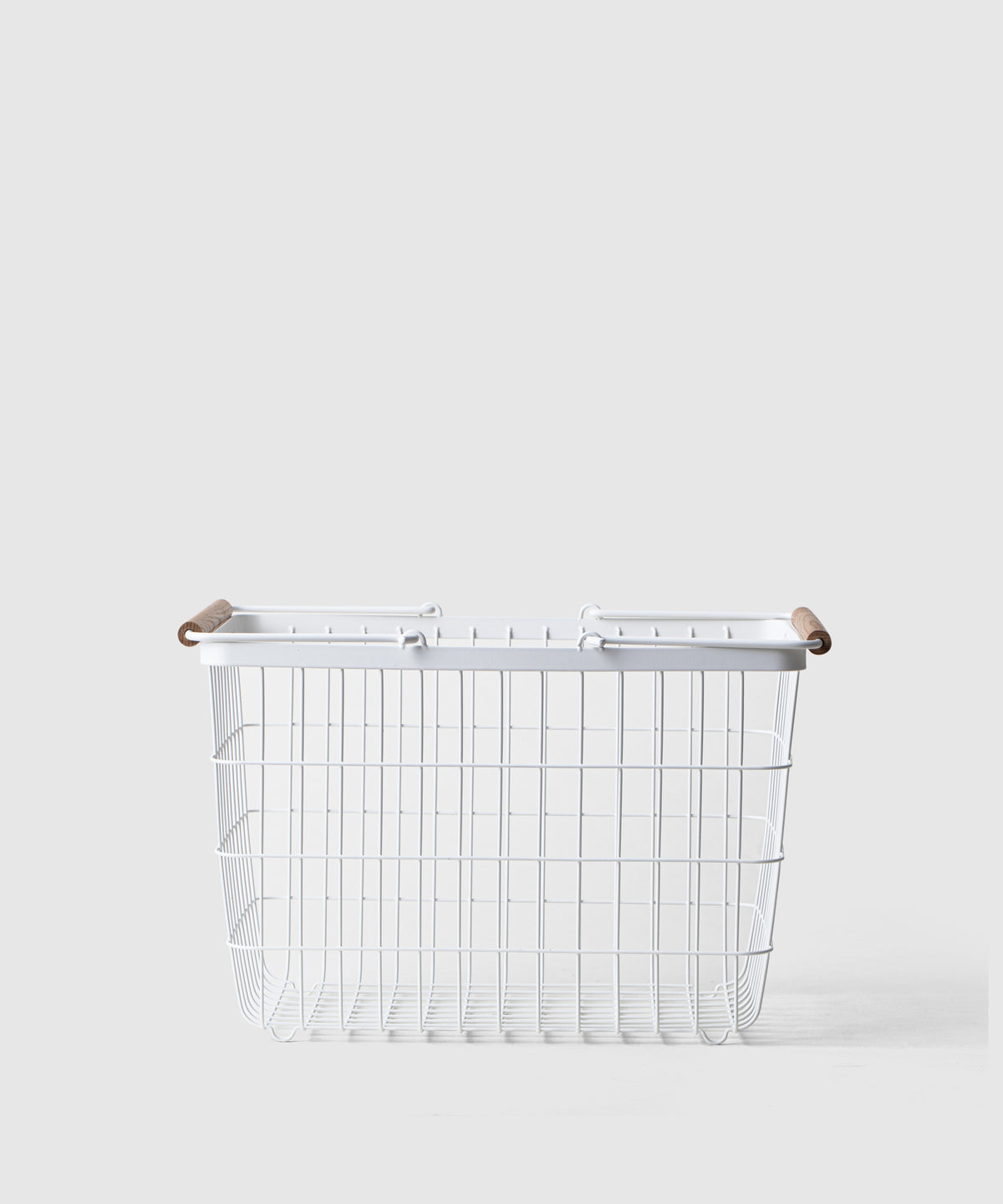 Tidy & Organized Steel Storage Basket With Handles - Medium