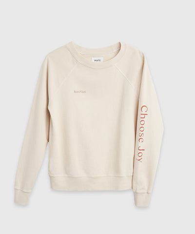 Choose Joy Organic Cotton Pullover on the Shop at KonMari by Marie Kondo