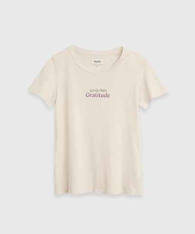 Let Go With Gratitude organic cotton t-shirt at the Shop at KonMari by Marie Kondo