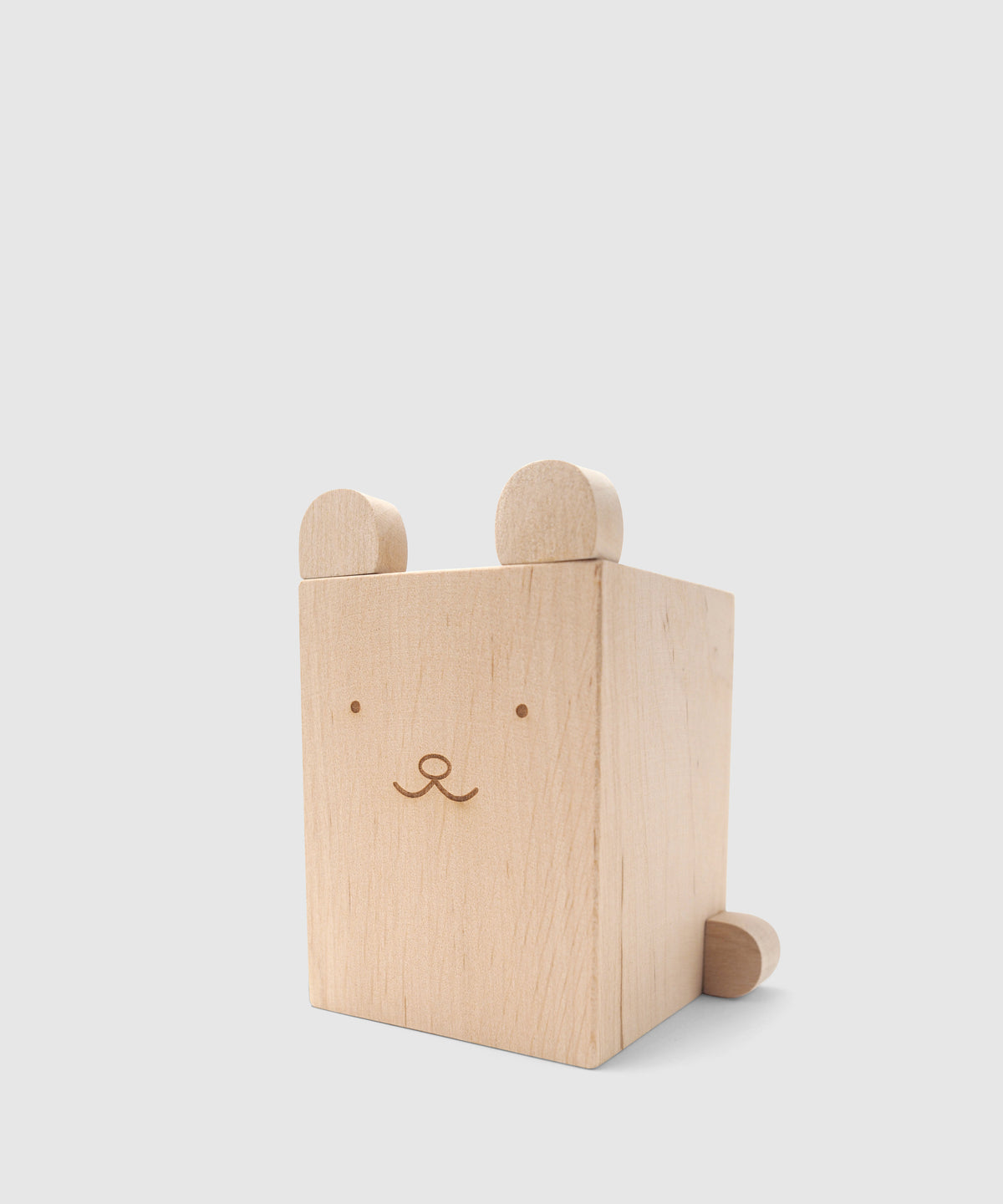 Cuddly Bear Wooden Pencil Holder