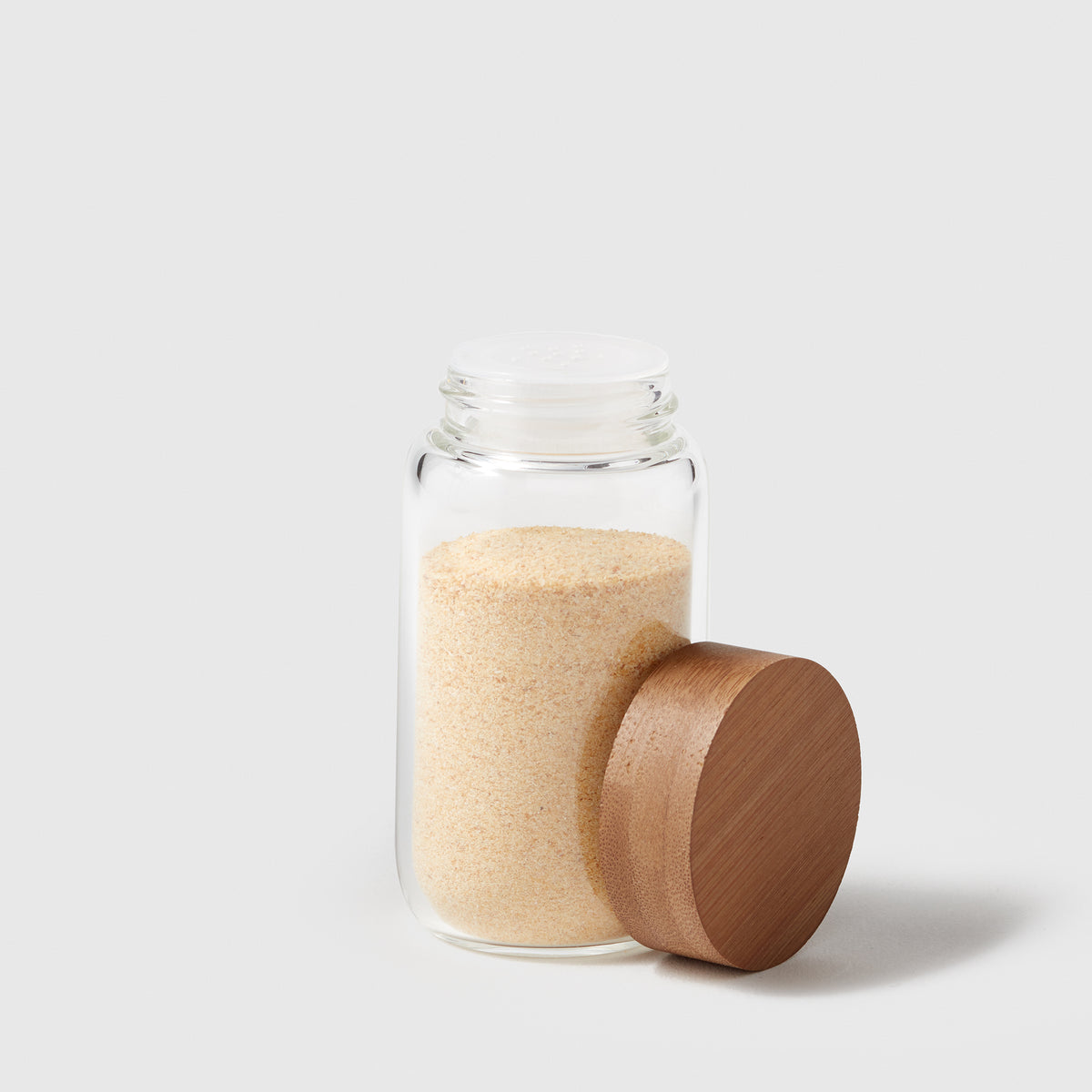 Glass Spice Jar with Bamboo Lid