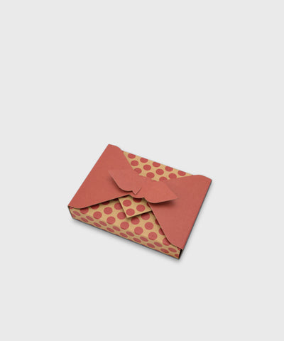 Reusable Japanese Furoshiki Gift Box – Red Dots