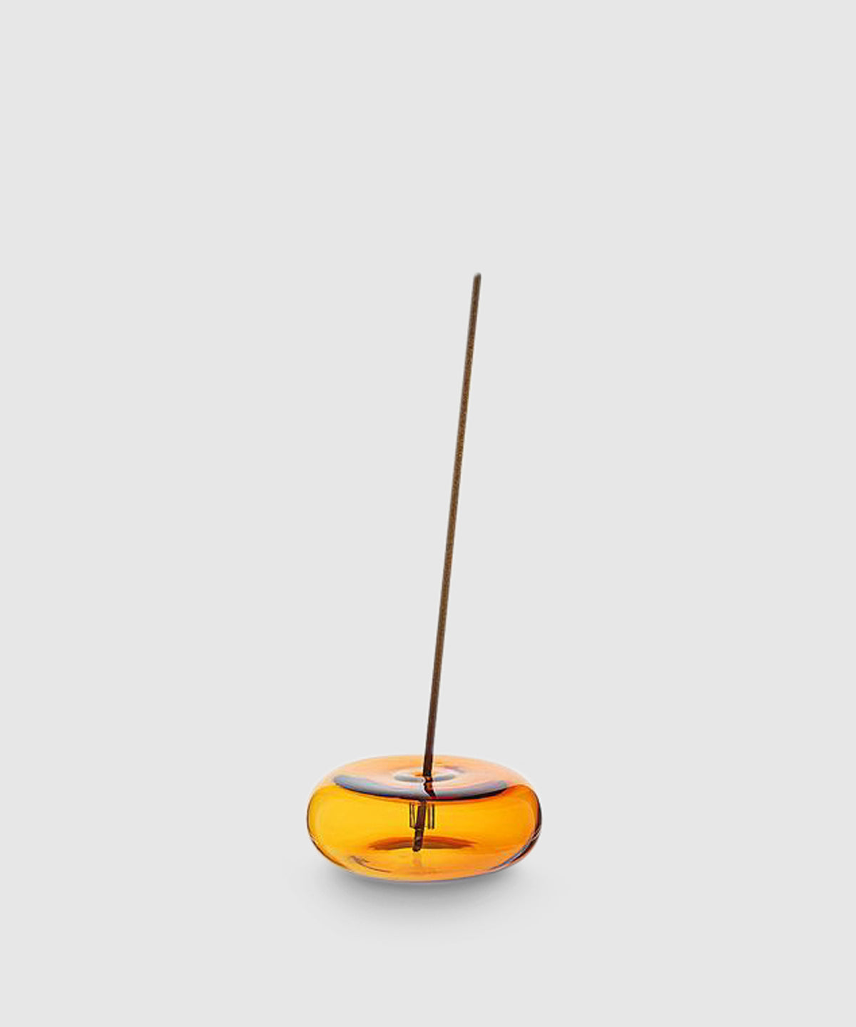 Glass Bubble Incense Holder – Amber