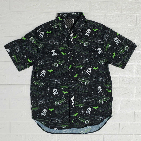 Hearsin' Around Unisex Button Up Shirt (GREEN)