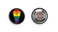 DWYBO Pride Pack Button & Sticker (Profits will be donated to nAGLY)