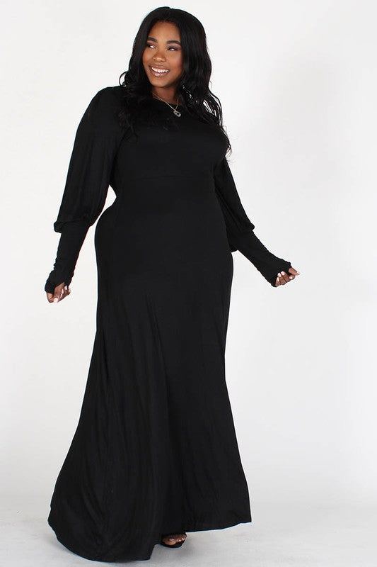 Mary Shelley Bishop Sleeve Maxi Dress (ONLY 2X, 3X LEFT!!!)