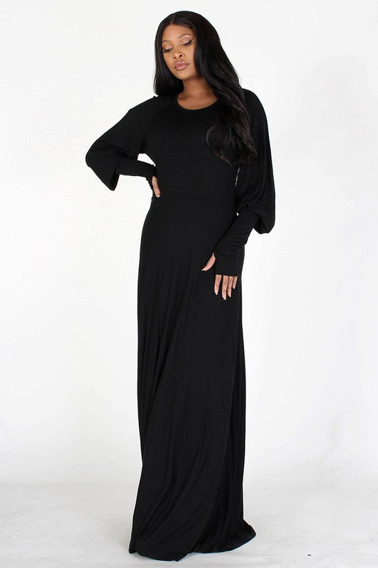 RESTOCKED!- Mary Shelley Bishop Sleeve Maxi Dress
