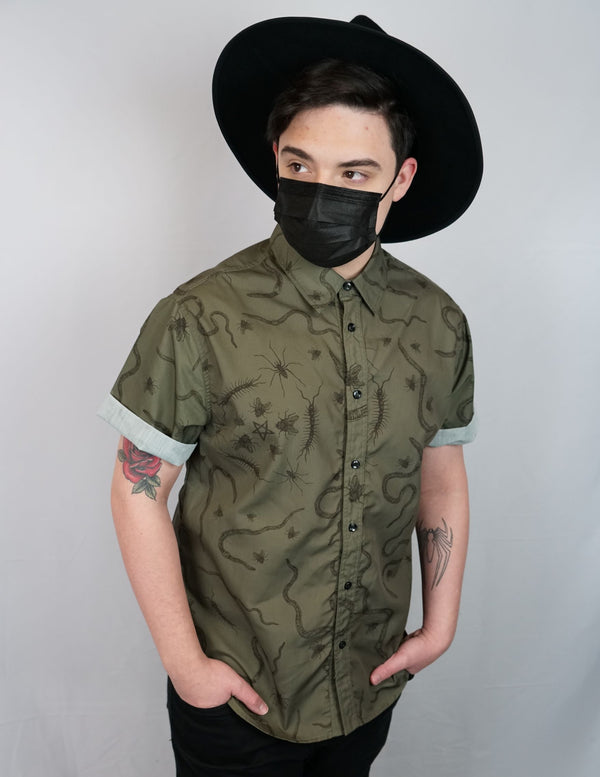 Creepy Crawlies Unisex Button Down - BRETT MANNING ART