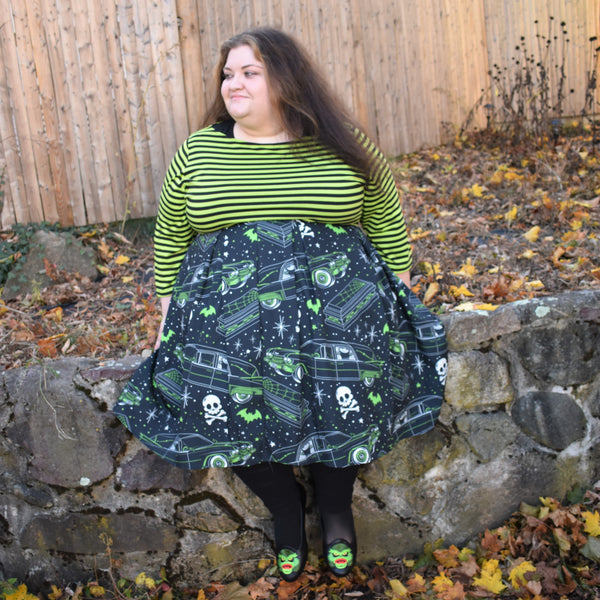 Hearsin' Around Pleated Skirt (GREEN)