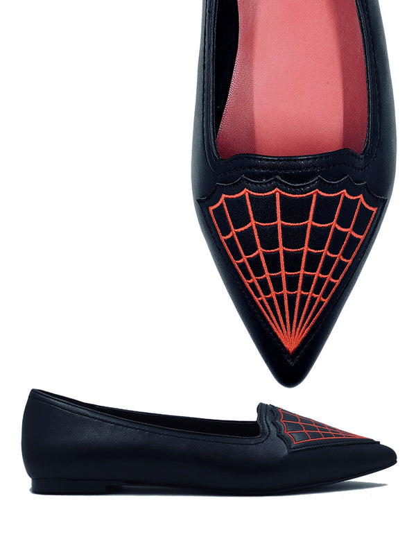 PREORDER Widow Pointed Toe Flats (SHIPS LATE APRIL/EARLY MAY)