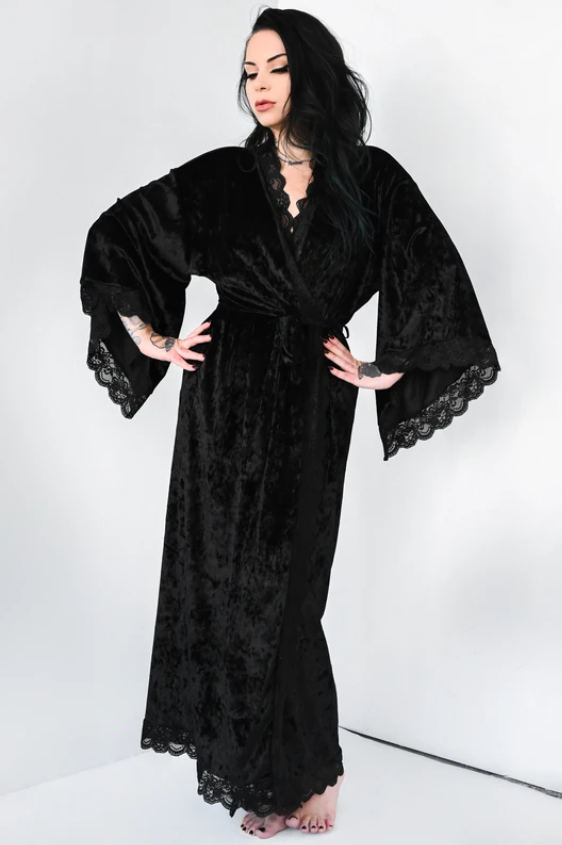 Bathory Luxurious Velvet Dressing Robe- FOXBLOOD