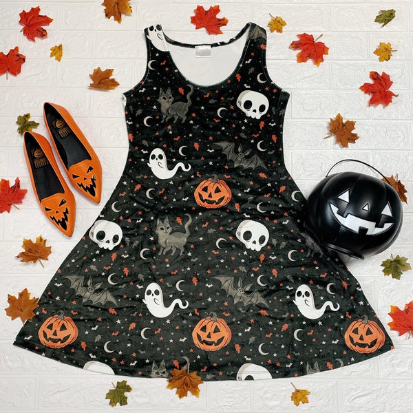 Velvet Trick or Treat Skater Dress