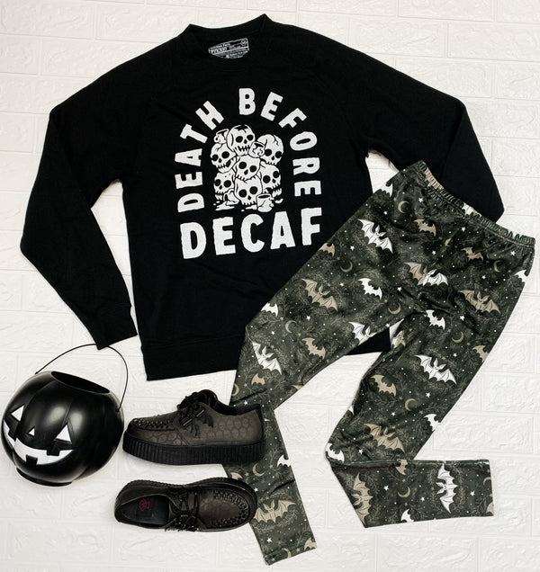 Death Before Decaf Sweatshirt