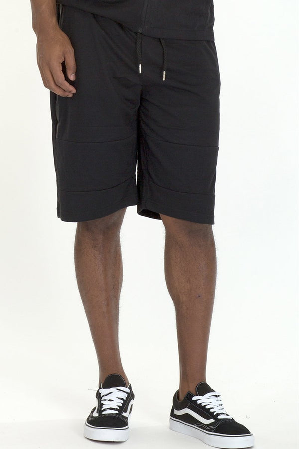 Black Zipper Pocket Sweatshorts