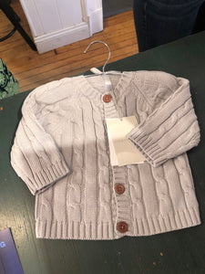Elegant Baby Cable Sweater (Gray)