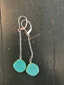 Stefanie Wolf Designs Full Circle Pendulum Earrings (Turquoise)