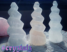 Selenite Spiral Unicorn Tower