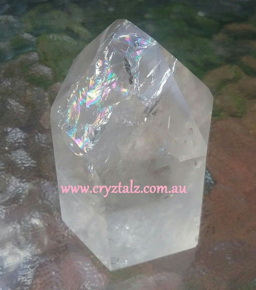 🌈 Rainbow Inclusions AAA Grade Clear Quartz Polished Generator 💎 Master Generator 💎