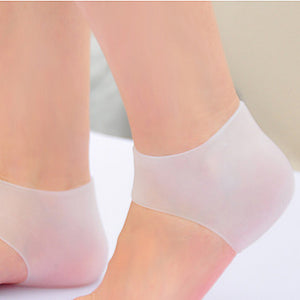 2 Piece Shock Absorbing Silicone Heel Sleeve