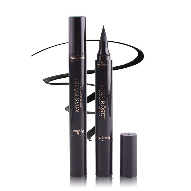 Black Waterproof Liquid Eyeliner Pen & Stamp
