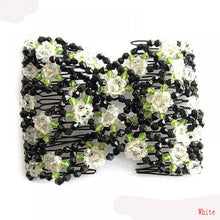 Stretch Beaded Flower Hair Clip