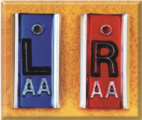 "EAP001 Aluminum-backed Pb Marker set, R&L 5/8"", No Initials"