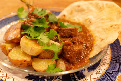 CARNE GUISADA (STEWED BEEF) WITH HOMEMADE TORTILLAS